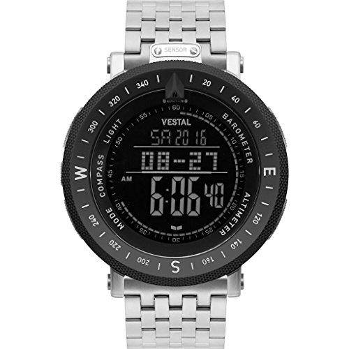 ベスタル ヴェスタル 腕時計 メンズ Vestal Guide 5-Link Metal Watch | Silver/Silver-Black/Negativeベスタル ヴェスタル 腕時計 メンズ