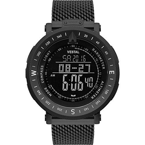 ベスタル ヴェスタル 腕時計 メンズ Vestal Guide 7-Link Metal Watch | Black/Black/Negativeベスタル ヴェスタル 腕時計 メンズ