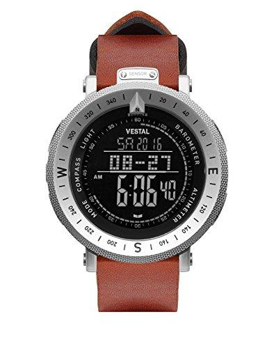 ベスタル ヴェスタル 腕時計 メンズ Vestal Guide Makers Watch | Brown-Black/Silver/Negativeベスタル ヴェスタル 腕時計 メンズ
