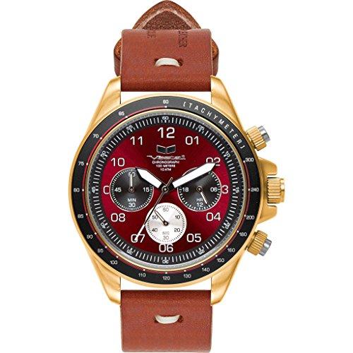 ベスタル ヴェスタル 腕時計 メンズ Vestal ZR-2 Makers Watch   Persimmon-Grey/Gold/Burgundyベスタル ヴェスタル 腕時計 メンズ