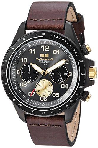 ベスタル ヴェスタル 腕時計 メンズ Vestal ZR2 Leather Stainless Steel Japanese-Quartz Watch with Strap, Brown, 20 (Model: ZR243L27.DB)ベスタル ヴェスタル 腕時計 メンズ