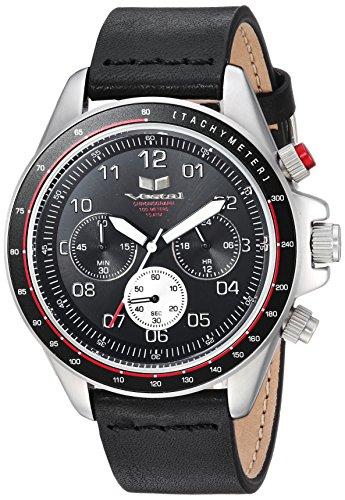 ベスタル ヴェスタル 腕時計 メンズ Vestal ZR2 Leather Stainless Steel Japanese-Quartz Watch with Strap, Black, 19.7 (Model: ZR243L20.BK)ベスタル ヴェスタル 腕時計 メンズ