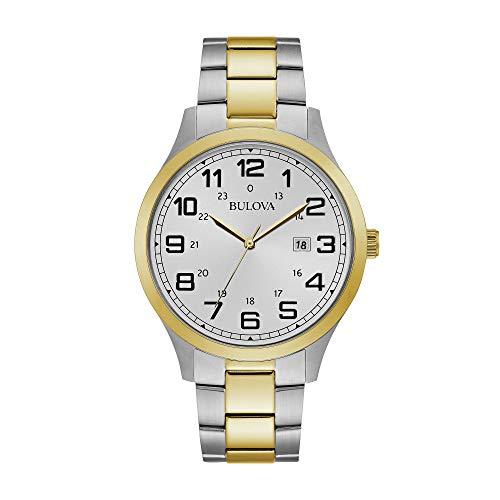 腕時計 ブローバ メンズ 【送料無料】Bulova Men's 98B304 japanese-quartz white Watch腕時計 ブローバ メンズ
