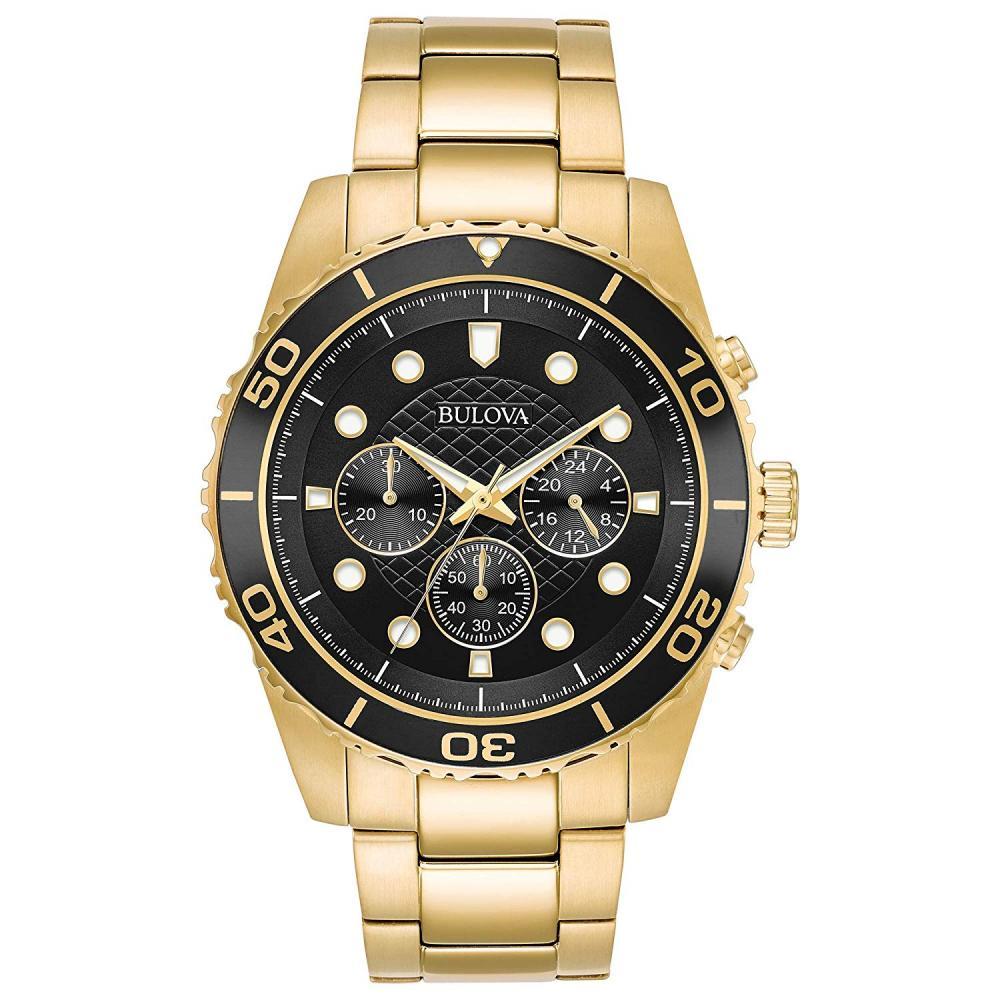 """ブローバ 腕時計 メンズ 【送料無料】Bulova Men""""s 98A173 Quartz Chronograph Gold-Tone Bracelet 43mm Watchブローバ 腕時計 メンズ"""