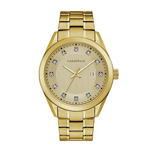 腕時計 ブローバ メンズ 【送料無料】Caravelle by Bulova Gold Tone Dress Watch (Model: 44B125)腕時計 ブローバ メンズ