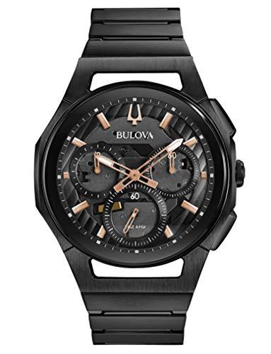 ブローバ 腕時計 メンズ 【送料無料】Bulova Curv Bracelet - 98A207 Black One Sizeブローバ 腕時計 メンズ