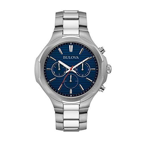 ブローバ 腕時計 メンズ Bulova Men's Stainless Steel Blue Dial Chronograph Watchブローバ 腕時計 メンズ
