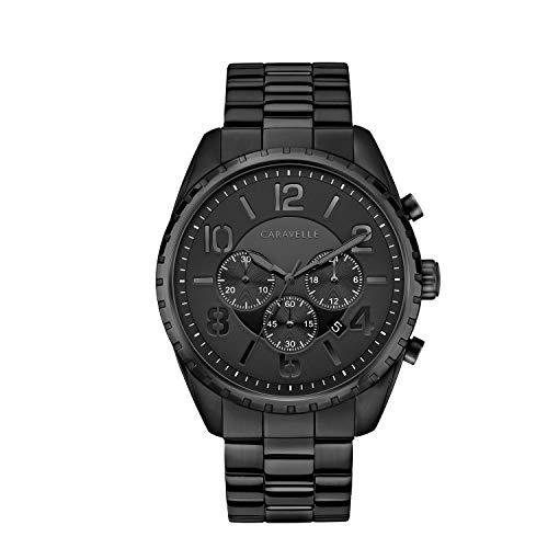 ブローバ 腕時計 メンズ 【送料無料】Caravelle Designed by Bulova Men's Quartz Watch with Stainless-Steel Strap, Black, 21.75 (Model: 45B150)ブローバ 腕時計 メンズ