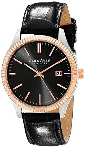 ブローバ 腕時計 メンズ 【送料無料】Caravelle New York Men's 45B131 Analog Display Analog Quartz Black Watchブローバ 腕時計 メンズ