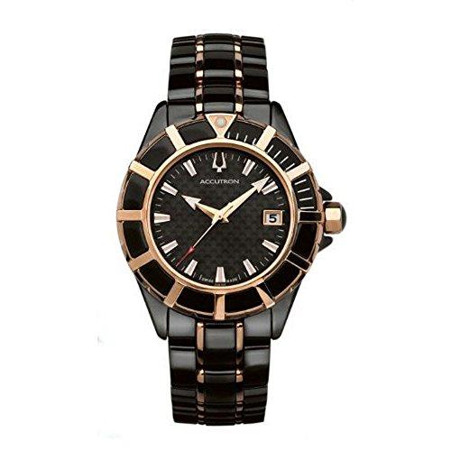 ブローバ 腕時計 メンズ 【送料無料】Accutron Swiss Wrist Watches-Accutron Mirador- Men's Watches 28B194 Black carbon fiber dialブローバ 腕時計 メンズ