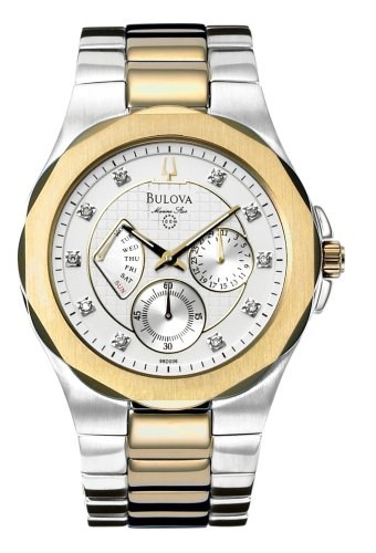 ブローバ 腕時計 メンズ Bulova Men's 98D006 Diamond Marine Star Day-Date Watchブローバ 腕時計 メンズ