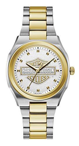 ブローバ 腕時計 レディース 【送料無料】Harley-Davidson Women's Bar & Shield Silver & Gold Stainless Steel Watch 78L129ブローバ 腕時計 レディース