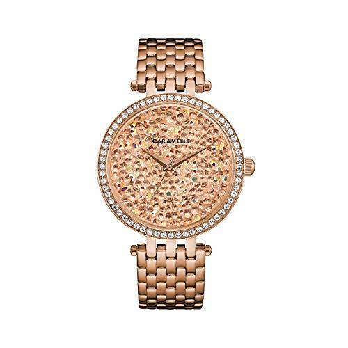 ブローバ 腕時計 レディース 【送料無料】Caravelle Designed by Bulova Women's Quartz Watch with Stainless-Steel Strap, Rose Gold, 18 (Model: 44L236)ブローバ 腕時計 レディース