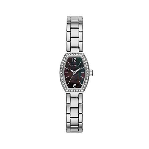 ブローバ 腕時計 レディース Caravelle Women's Quartz Watch with Stainless-Steel Strap, Silver, 10 (Model: 43L204)ブローバ 腕時計 レディース