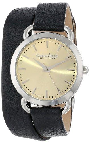 ブローバ 腕時計 レディース 【送料無料】Caravelle New York Women's 43L163 Analog Display Japanese Quartz Black Watchブローバ 腕時計 レディース