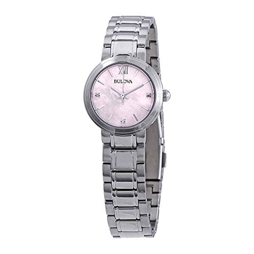 ブローバ 腕時計 レディース 【送料無料】Bulova Women's 96P165 Stainless Steel and Diamond Watch with a Pink Mother of Pearl Dialブローバ 腕時計 レディース