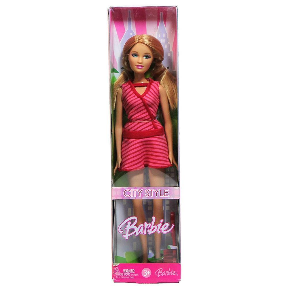 バービー バービー人形 日本未発売 Mattel Year 2006 Barbie CITY STYLE Series 12 Inch Doll - SUMMER with Striped Pink Dress, Shoes and Hairbrush (K9202)バービー バービー人形 日本未発売