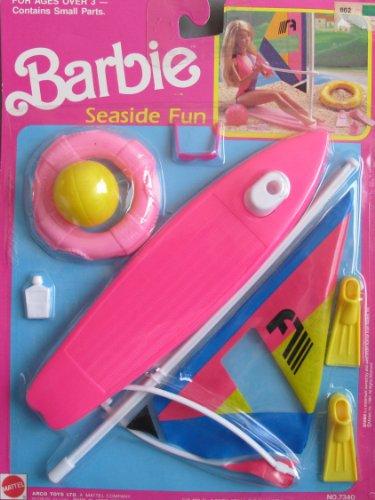 バービー バービー人形 日本未発売 プレイセット アクセサリ Barbie SEASIDE FUN Playset w WIND SURFING SAIL BOAT & More! (1989 Arco Toys, Mattel)バービー バービー人形 日本未発売 プレイセット アクセサリ