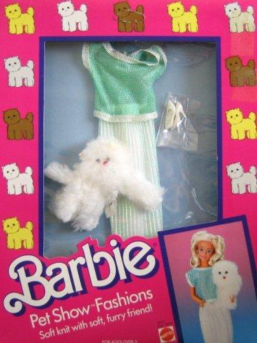 バービー バービー人形 着せ替え 衣装 ドレス 【送料無料】Barbie Pet Show Fashions w Furry Cat - Green, White & Silver Clothes (1986)バービー バービー人形 着せ替え 衣装 ドレス