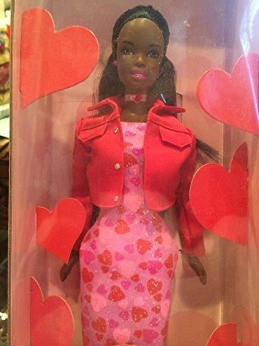 バービー バービー人形 日本未発売 【送料無料】Very Valentine Black Barbie with Pink Heart Dressバービー バービー人形 日本未発売