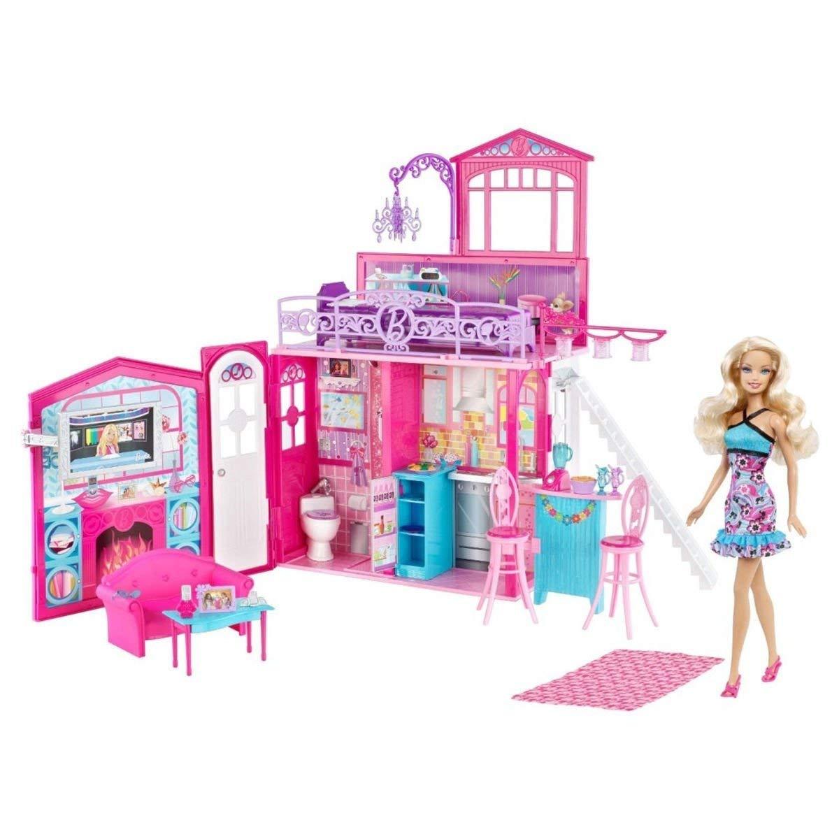 <title>無料ラッピングでプレゼントや贈り物にも 逆輸入並行輸入送料込 送料無料 バービー Barbie 魅力的なバケーションハウス 驚きの値段で 人形つき 2フロア V7546</title>