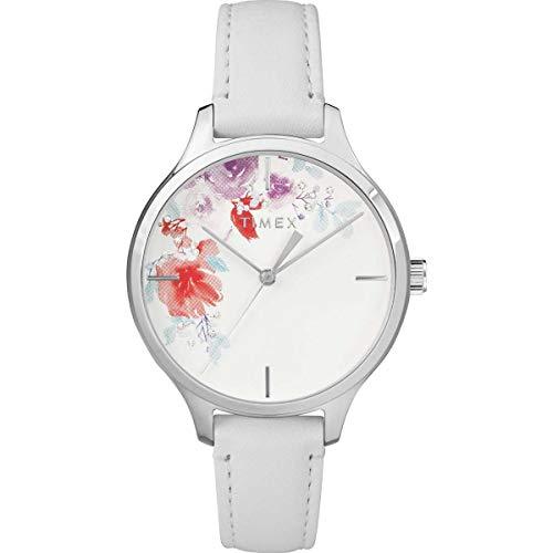 タイメックス 腕時計 レディース 【送料無料】Timex Crystal Bloom 36mm Leather Strap Watch - White - TW2R66800タイメックス 腕時計 レディース