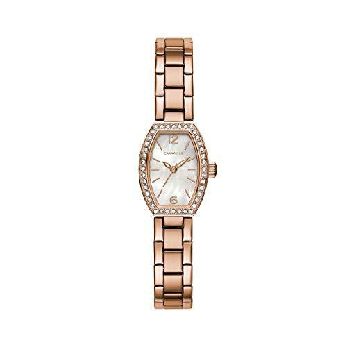 腕時計 ブローバ レディース 【送料無料】Caravelle Designed by Bulova Women's Quartz Watch with Stainless-Steel Strap, Rose Gold, 10 (Model: 44L242)腕時計 ブローバ レディース