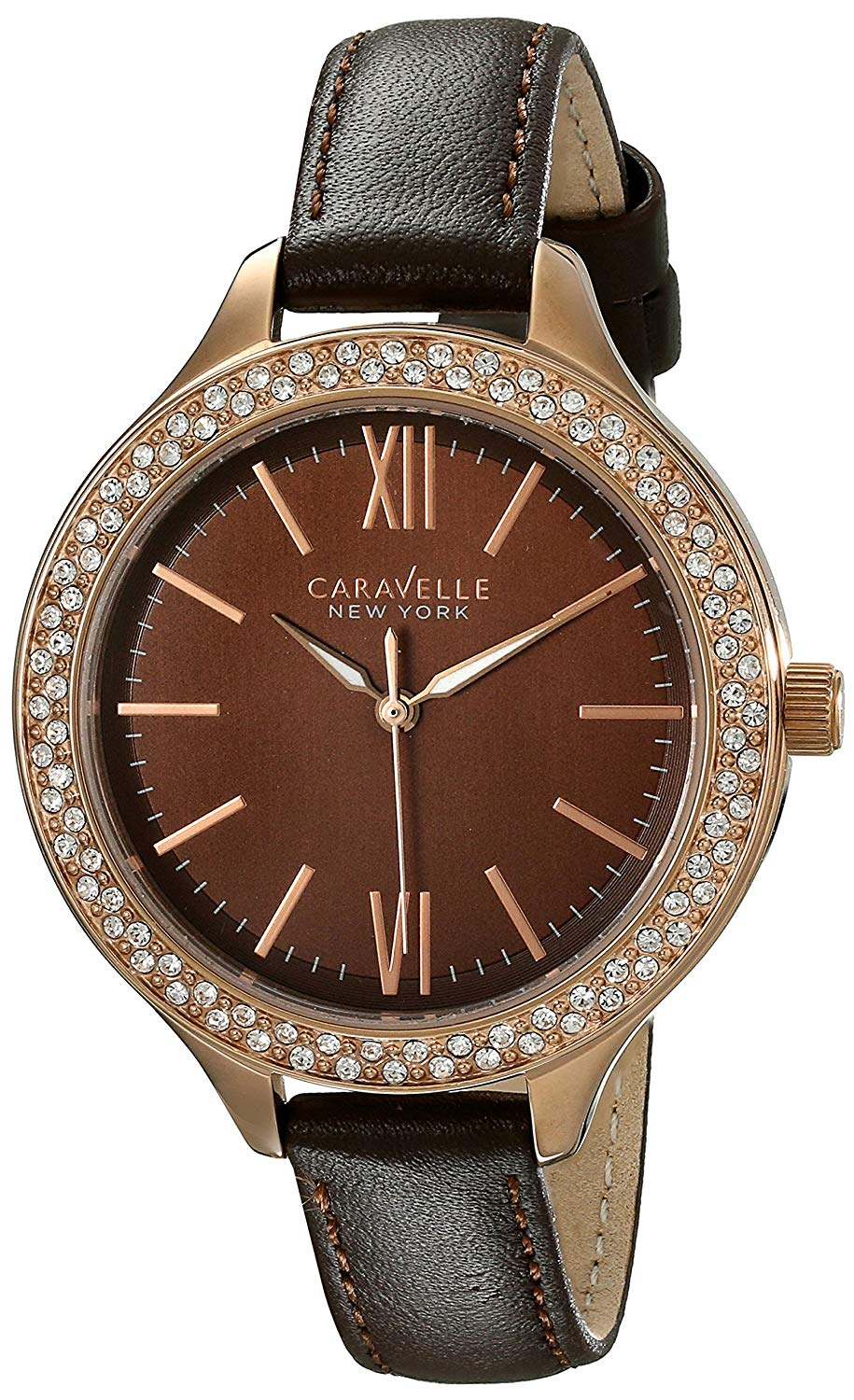 ブローバ 腕時計 レディース Caravelle New York Women's 44L124 Analog Display Japanese Quartz Brown Watchブローバ 腕時計 レディース