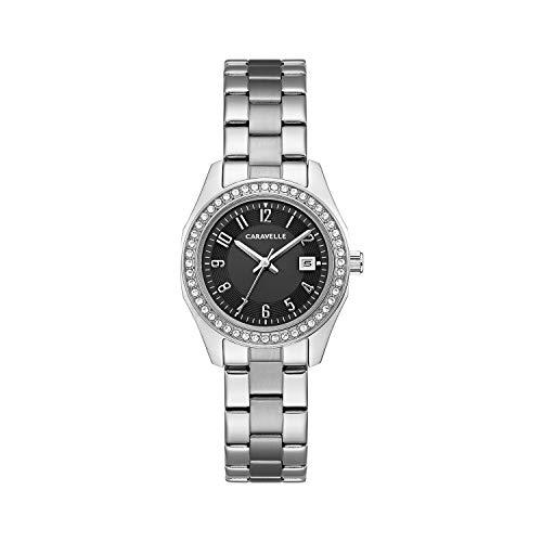 ブローバ 腕時計 レディース Caravelle Women's Quartz Watch with Stainless-Steel Strap, White, 14 (Model: 43M121)ブローバ 腕時計 レディース