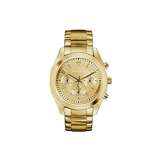 ブローバ 腕時計 レディース Caravelle Designed by Bulova Women's Quartz Watch with Stainless-Steel Strap, Gold, 18.5 (Model: 44L238)ブローバ 腕時計 レディース