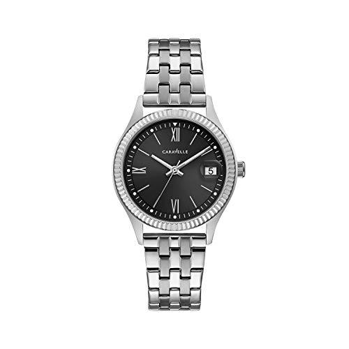 ブローバ 腕時計 レディース Caravelle Women's Quartz Watch with Stainless-Steel Strap, Silver, 16 (Model: 43M115)ブローバ 腕時計 レディース