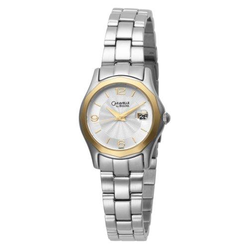 ブローバ 腕時計 レディース 【送料無料】Caravelle by Bulova Women's 45M103 Silver and White Dial Metal Bracelet Watchブローバ 腕時計 レディース