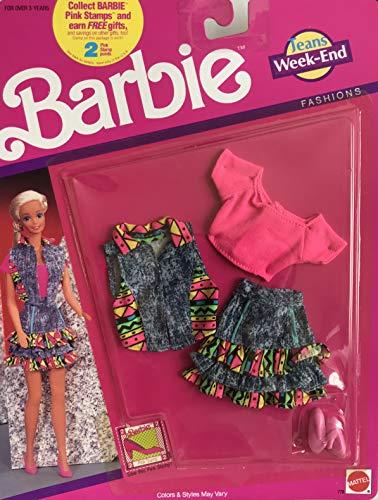 バービー バービー人形 着せ替え 衣装 ドレス Barbie Jeans Week-END Fashions Outfit w Ruffle Layered Skirt, Crop TOP, Vest and Pair of Shoes (1990 Arco Toys, Mattel)バービー バービー人形 着せ替え 衣装 ドレス