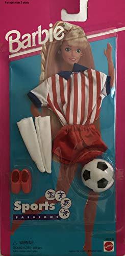 バービー バービー人形 着せ替え 衣装 ドレス Barbie Sports Fashions w Soccer Uniform & Soccer Ball (1995 Arcotoys, Mattel)バービー バービー人形 着せ替え 衣装 ドレス