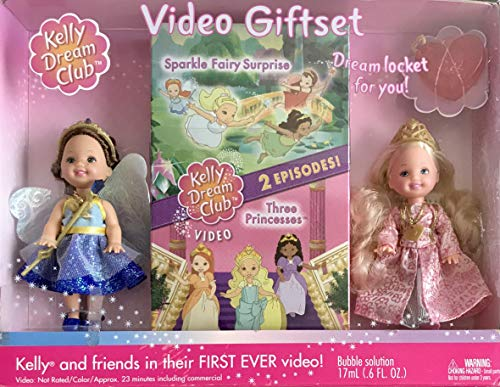 バービー バービー人形 チェルシー スキッパー ステイシー Barbie Kelly Dream Club Video Giftset w Princess Kelly Doll, Sapphire Fairy Chelsie Doll, 2 Episodes Video, Child Size Locket w Bubble Solutバービー バービー人形 チェルシー スキッパー ステイシー