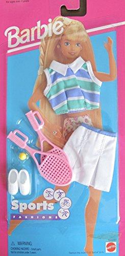 バービー バービー人形 着せ替え 衣装 ドレス 【送料無料】Barbie SPORTS FASHIONS w TENNIS OUTFIT, Pair of SHOES, RACKETS & Tennis BALL (1995 Arcotoys, Mattel)バービー バービー人形 着せ替え 衣装 ドレス