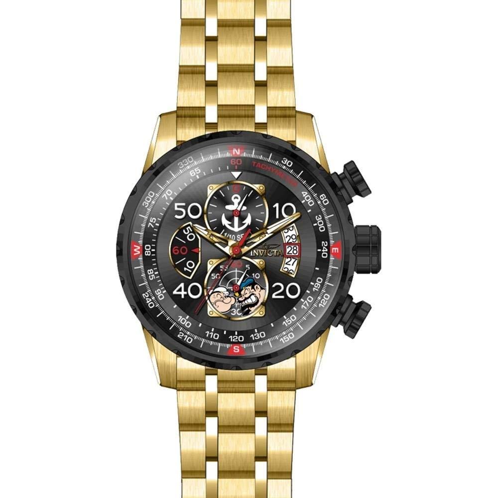 インヴィクタ インビクタ 腕時計 メンズ Invicta Men's Character Collection Quartz Watch with Gold-Tone-Stainless-Steel Strap, 24 (Model: 25152)インヴィクタ インビクタ 腕時計 メンズ