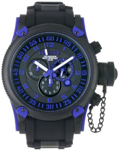 インヴィクタ インビクタ 腕時計 メンズ 【送料無料】Invicta Men's 0518 Russian Diver Chronograph Black Ion-Plated Watchインヴィクタ インビクタ 腕時計 メンズ