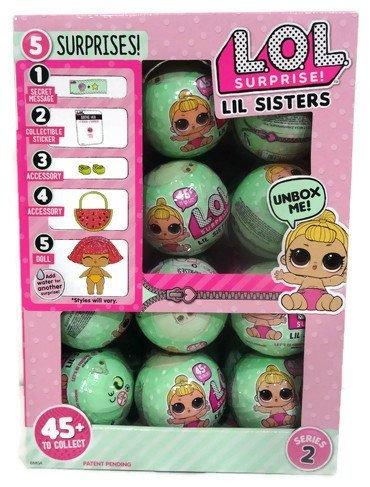 エルオーエルサプライズ 人形 ドール LOL Surprise Lil Outrageous Littles Lil Sisters Series 2 Lets Be Friends Mystery Pack - Multi-Pack of 24 with Display Caseエルオーエルサプライズ 人形 ドール