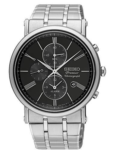 セイコー 腕時計 メンズ 【送料無料】Seiko Premier SNAF75P1 Mens Chronograph Flat & lightセイコー 腕時計 メンズ