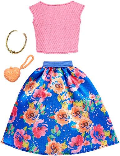 バービー バービー人形 着せ替え 衣装 ドレス Barbie Complete Looks Floral Skirt & Pink Top Fashion Packバービー バービー人形 着せ替え 衣装 ドレス