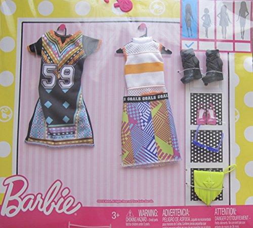 バービー バービー人形 着せ替え 衣装 ドレス Barbie Graphic Sporty Fun Fashions 2 Pack w Dress, Top, Skirt & More (2016)バービー バービー人形 着せ替え 衣装 ドレス