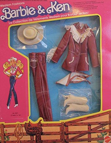 バービー バービー人形 着せ替え 衣装 ドレス Barbie & Ken 'Western Elegance' Fashions w 'Fringed' Leather-Like Jacket, Leather-Like Pants, Cowgirl Boots, & More! (1981 Mattel Hawthorne)バービー バービー人形 着せ替え 衣装 ドレス