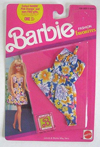 バービー バービー人形 着せ替え 衣装 ドレス Barbie Fashion Favorites Flower Pattern Dress - Vintage 1990バービー バービー人形 着せ替え 衣装 ドレス