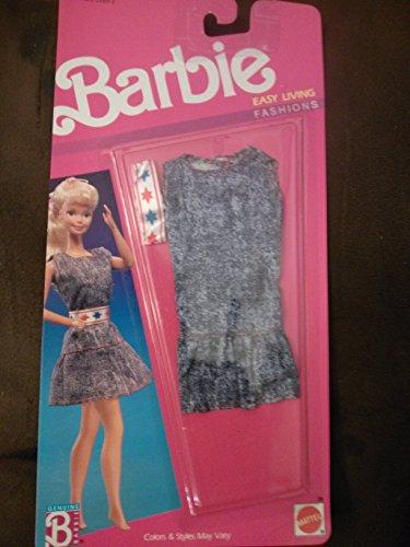 バービー バービー人形 着せ替え 衣装 ドレス Barbie Easy Living Fashions 1989 Demin Dress with star beltバービー バービー人形 着せ替え 衣装 ドレス