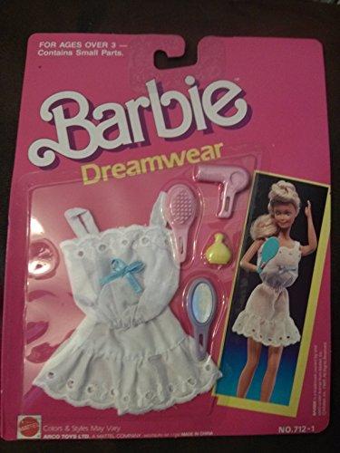 バービー バービー人形 着せ替え 衣装 ドレス 【送料無料】Barbie Dreamwear 712-1 White With Blue Bowバービー バービー人形 着せ替え 衣装 ドレス