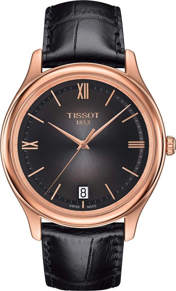 ティソ 腕時計 メンズ Tissot Fascination Gent 18K Rose Gold Brown Leather Mens Watch T9244107630800ティソ 腕時計 メンズ