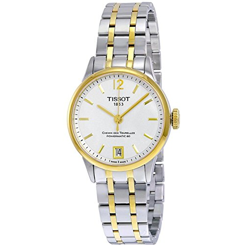 ティソ 腕時計 メンズ 【送料無料】Tissot T-Classic Chemin Des Tourelles Automatic White Dial Two-Tone Stainless Steel Mens Watch T0992072203700ティソ 腕時計 メンズ