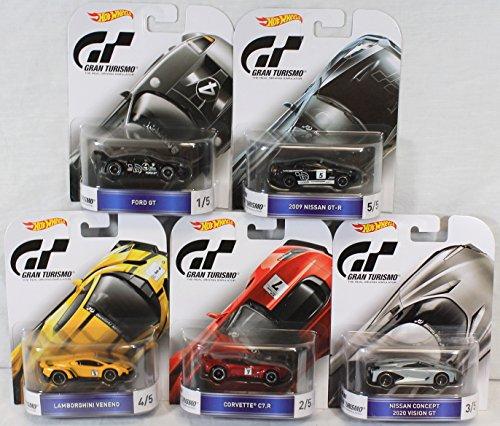 ホットウィール マテル ミニカー ホットウイール DJR93 【送料無料】Hot Wheels 1:64 Retro Entertainment C Case Gran Turismo Set of 5 DMC55-959Cホットウィール マテル ミニカー ホットウイール DJR93