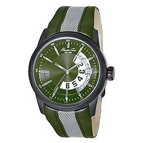 ケネスコール・ニューヨーク Kenneth Cole New York 腕時計 メンズ KC1835 Kenneth Cole New York Men's Japanese Quartz Stainless Steel Case Leather Strap Green,(Model:KC1835)ケネスコール・ニューヨーク Kenneth Cole New York 腕時計 メンズ KC1835